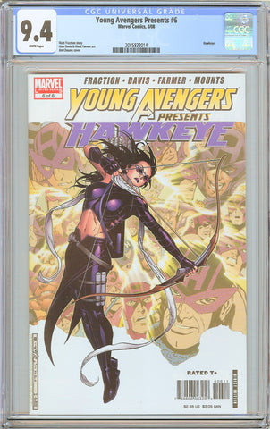 Young Avengers Presents #6 CGC 9.4 White Pages (2008) 2085832014 Hawkeye