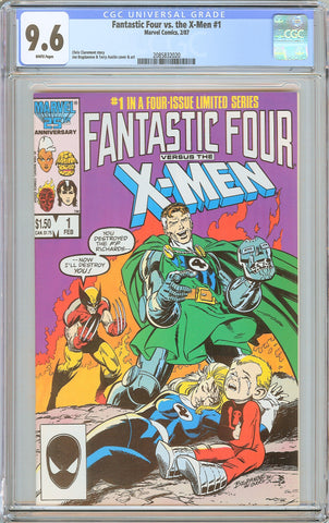 Fantastic Four vs. the X-Men #1 CGC 9.6 White Pages (1987) 2085832020