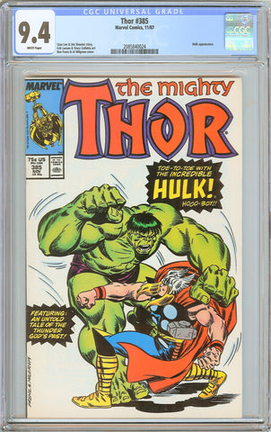 Thor #385 CGC 9.4 White Pages (1987) 2085840024