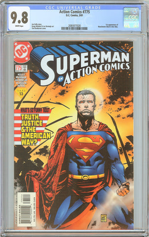 Action Comics #775 CGC 9.8 White Pages (2001) 2085977020