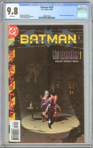 Batman # 570 CGC 9.8 WP (1999) 2085977022 Joker & Harley Quinn