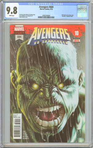 Avengers #684 CGC 9.8 White Pages (2018) 2092204004 1st app. Immortal Hulk