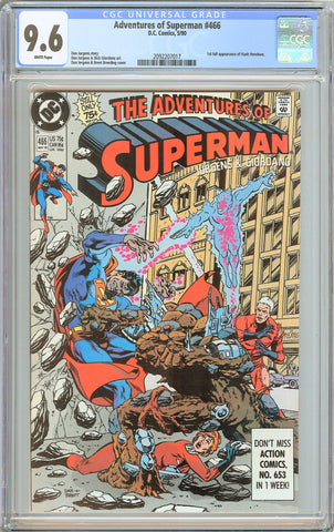 Adventures of Superman #466 CGC 9.6 White Pages 2092207017