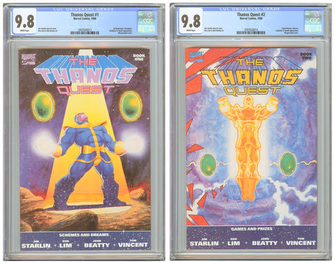 Thanos Quest #1 & #2 CGC 9.8 White Pages (1990) 2097626013-14 1st Print