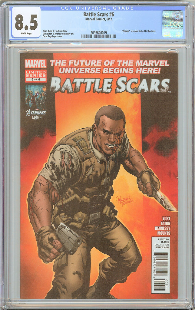 Battle Scars #6 CGC 8.5 White Pages 2097626019 Phil Coulson