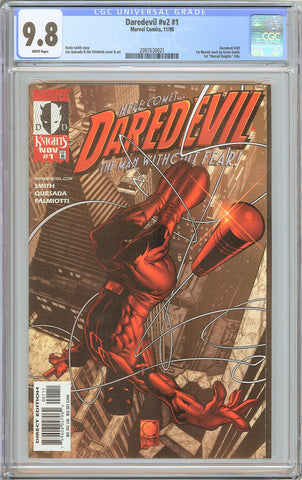 Daredevil #v2 #1 CGC 9.8 White Pages 2097630021