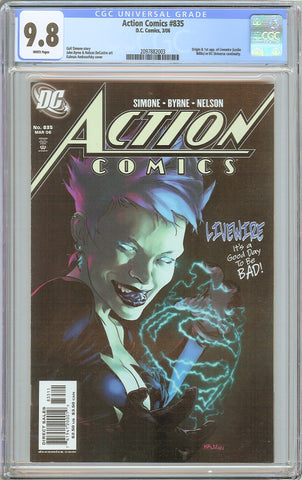 Action Comics #835 CGC 9.8 White Pages (2006) 2097882003 Livewire