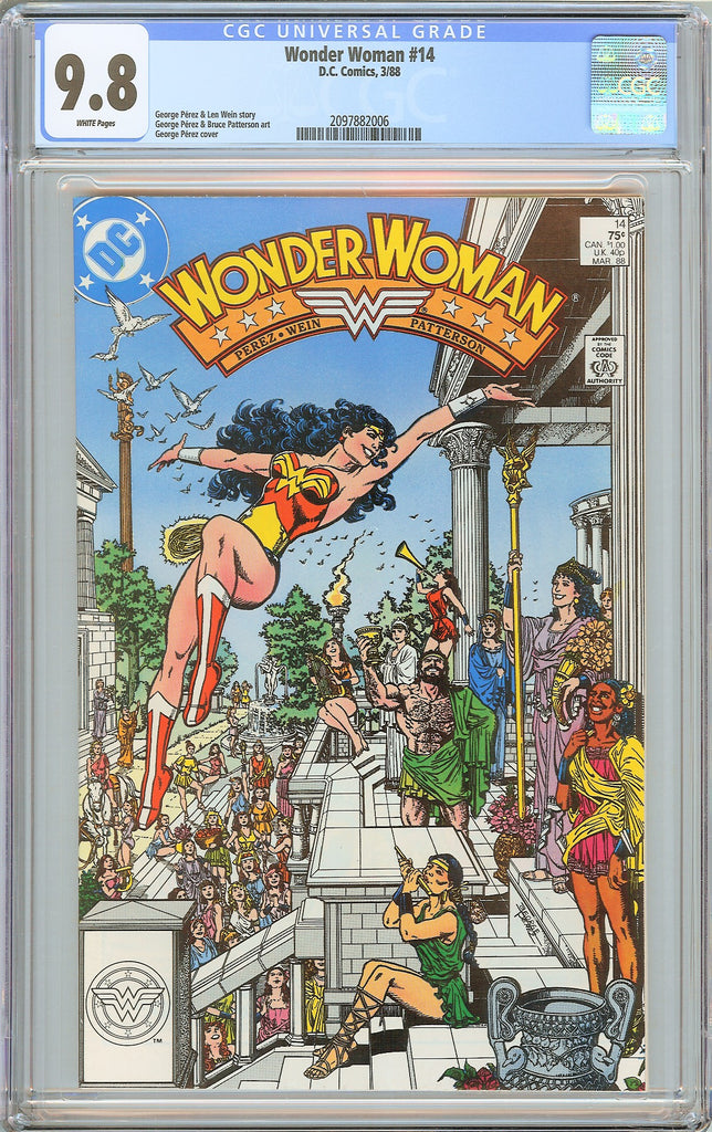 Wonder Woman #14 CGC 9.8 White Pages (1988) 2097882006