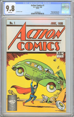Action Comics #1 CGC 9.8 White Pages (1988) 2097882012 Reprint