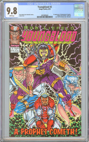Youngblood #2 CGC 9.8 White Pages (1992) 2097885001