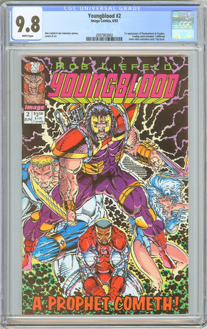 Youngblood #2 CGC 9.8 White Pages (1992) 2097903002 1st Shadowhawk & Prophet