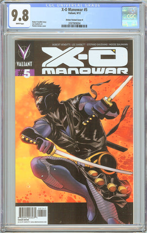 X-O Manowar #5 CGC 9.8 White Pages (2012) 2097909004 Zircher Variant Edition