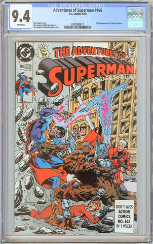 Adventures of Superman #466 CGC 9.4 White Pages (1990) 2097909017