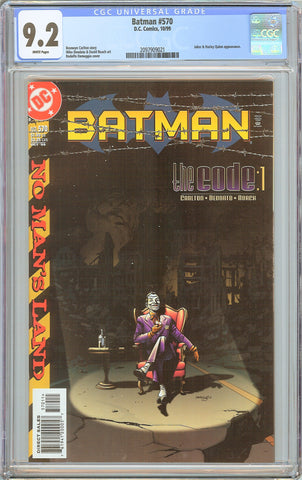 Batman # 570 CGC 9.2 WP (1999) 2097909021 Joker & Harley Quinn
