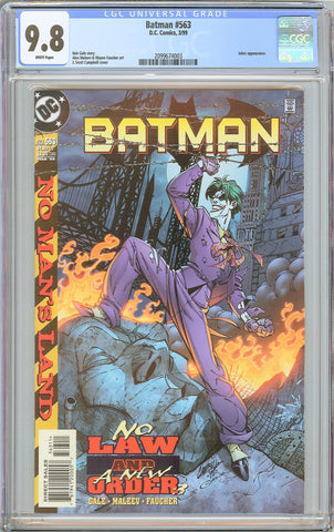 Batman # 563 CGC 9.8 White Pages (1999) 2099674003