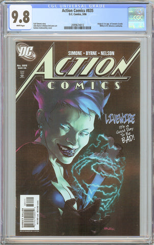 Action Comics #835 CGC 9.8 White Pages (2006) 2099674012 Livewire