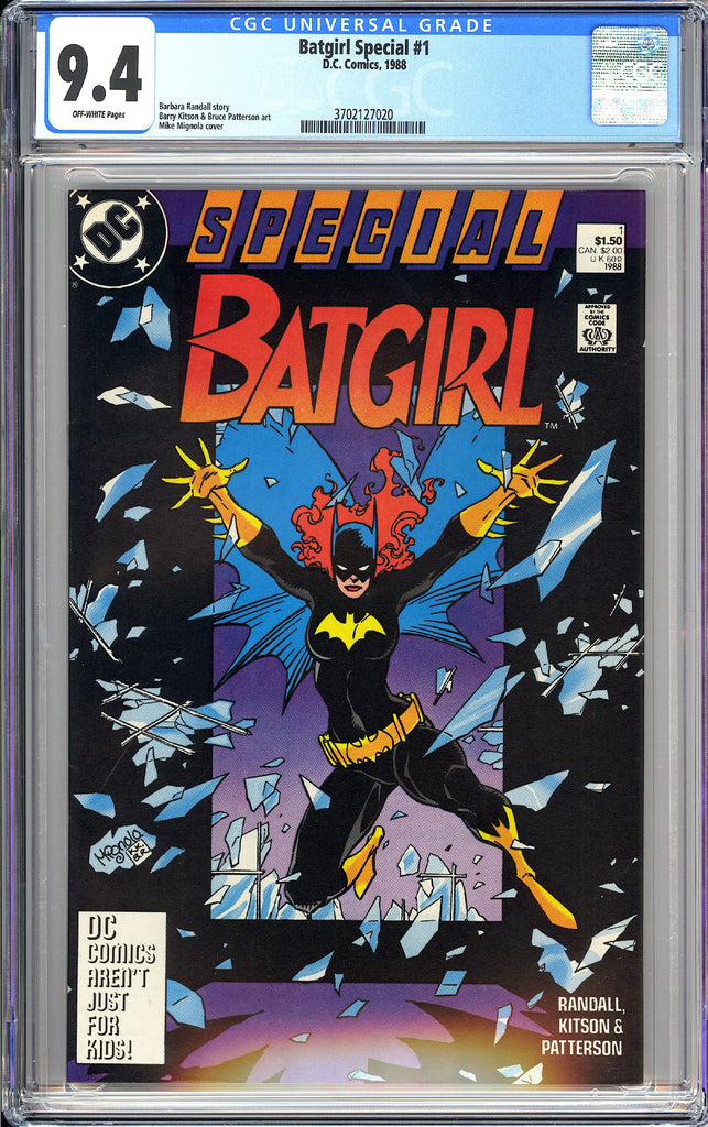 Batgirl Special #1 CGC 9.4 OW 1988 3702127020 Mike Mignola Cover