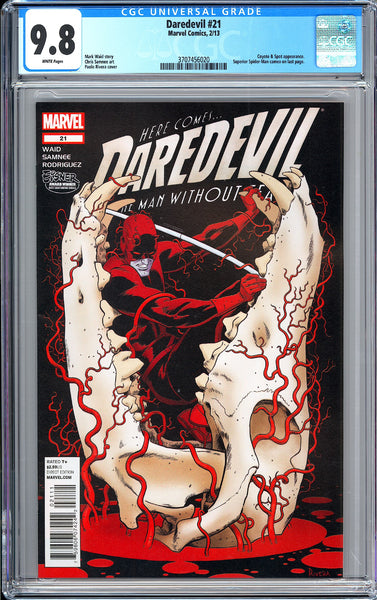 Daredevil #21 CGC 9.8 White Pages (2013) 3707456020 Superior Spider-Man cameo