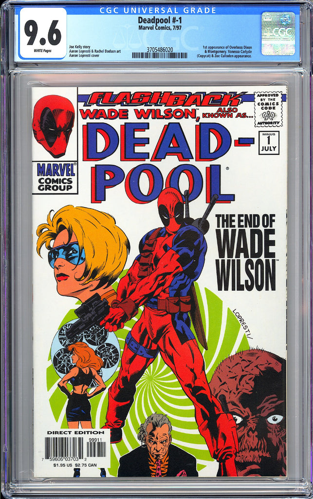 Deadpool #-1 CGC 9.6 WP 1997 3705486020 Flashback The End of Wade Wilson
