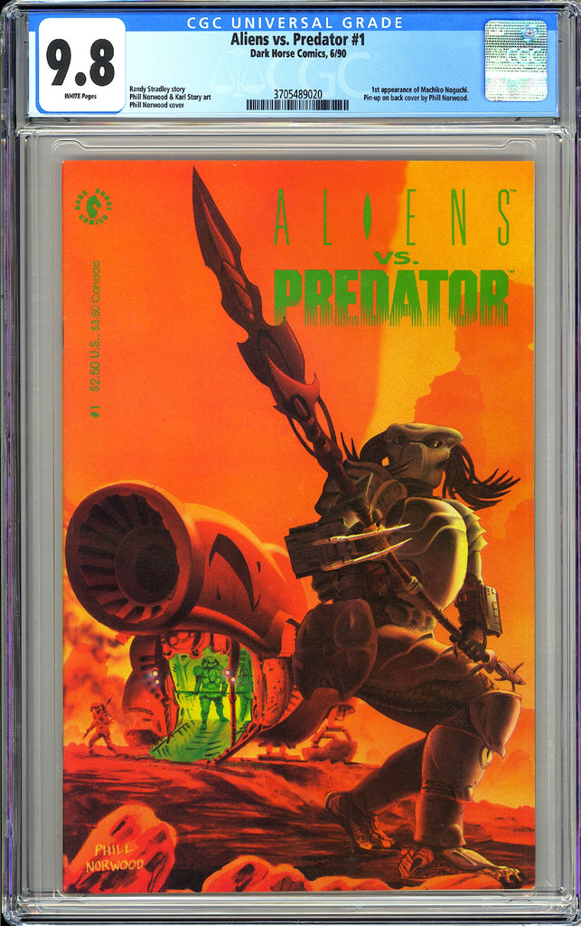 Aliens vs. Predator #1 CGC 9.8 White Pages (1990) 3705489020