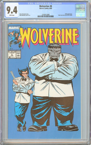 Wolverine #8 CGC 9.4 White Pages (1989) 2100412008