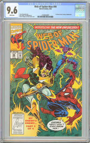 Web of Spider-Man #99 CGC 9.6 White Pages 1993 2102642007