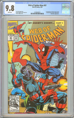 Web of Spider-Man #97 CGC 9.8 White Pages 1993 2102642013 1st Doctor Kevin Trenc