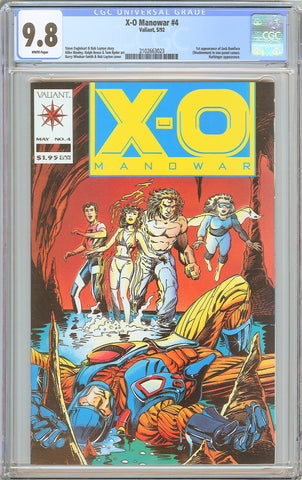 X-O Manowar #4 CGC 9.8 White Pages (1992) 2102663023 1st Shadowman