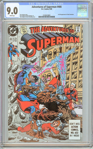 Adventures of Superman #466 CGC 9.0 White Pages 1990 2103610001
