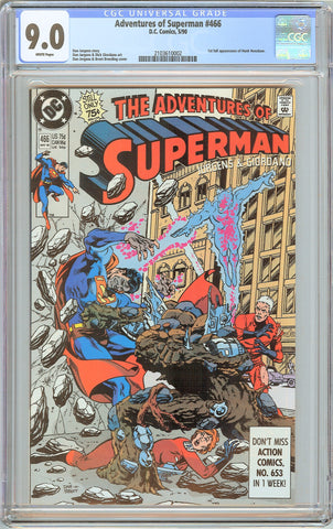 Adventures of Superman #466 CGC 9.0 White Pages 1990 2103610002