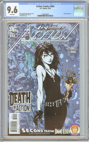 Action Comics #894 CGC 9.6 White Pages 2010 2103610022 Death appearance