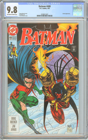 Batman # 488 CGC 9.8 White Pages 1993 2103611021 Azreal appearance