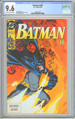 Batman # 484 CGC 9.6 White Pages 1992 2103611022