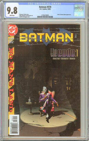 Batman # 570 CGC 9.8 WP 1999 2105418005 Joker & Harley Quinn
