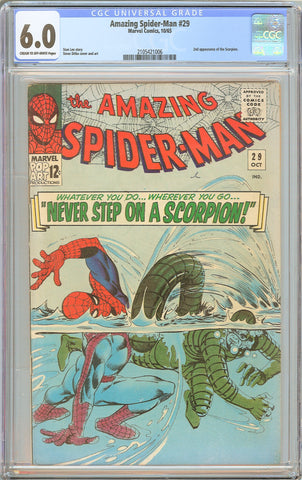 Amazing Spider-Man #29 CGC 6.0 CT Off-White Pages 1965 2105421006