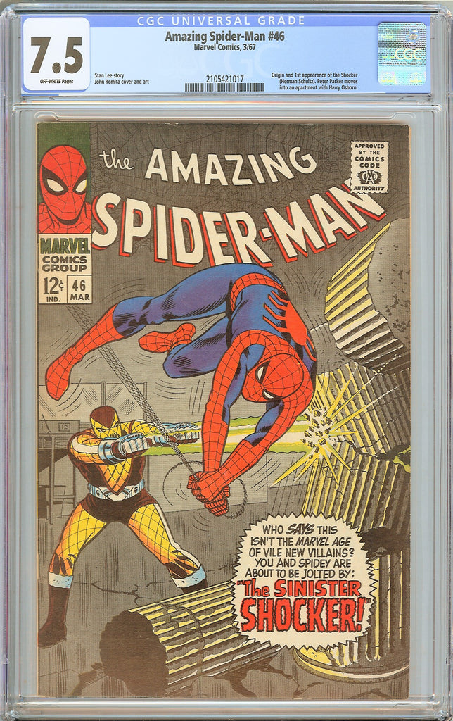 Amazing Spider-Man #46 CGC 7.5 Off-White Pages 1967 2105421017