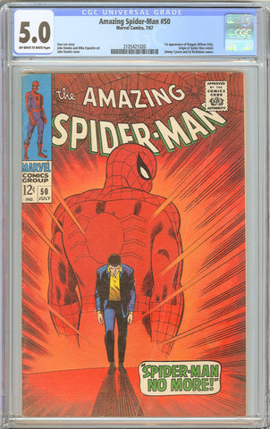 Amazing Spider-Man #50 CGC 5.0 OW to WP 1967 2105421020 1st Kingpin