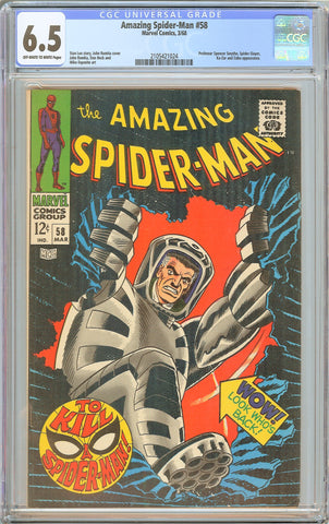 Amazing Spider-Man #58 CGC 6.5 OW to WP 1968 2105421024 Stan Lee Story