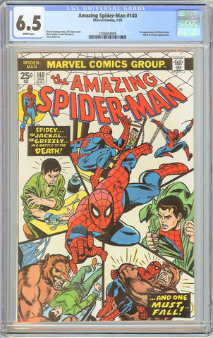Amazing Spider-Man #140 CGC 6.5 WHITE PAGES 1975 2105844005