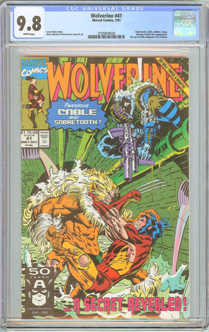 Wolverine #41 CGC 9.8 White Pages 1991 2105844020