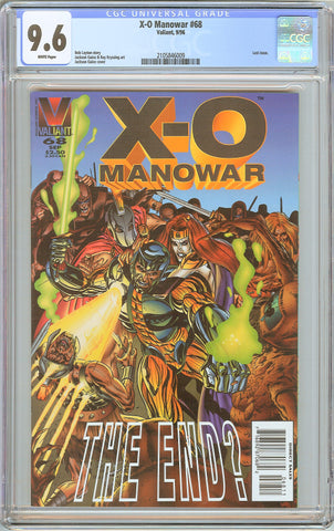 X-O Manowar #68 CGC 9.6 White Pages 1996 2105846009 Last Issue