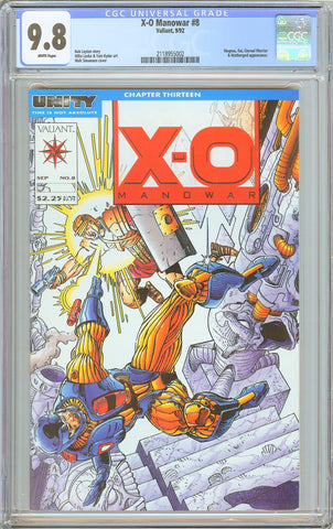 X-O Manowar #8 CGC 9.8 White Pages 1992 2118955002 Valiant