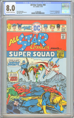 All-Star Comics #58 CGC 8.0 OW-WP 1976 2118955004 1st Power Girl Kara