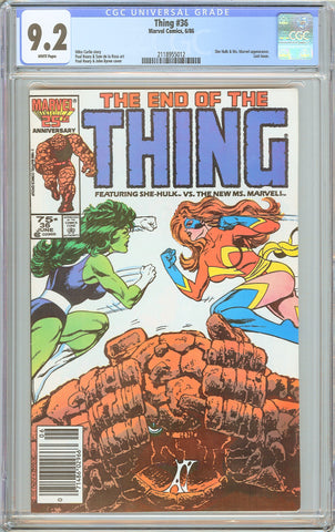Thing #36 CGC 9.2 White Pages 1986 2118955012 Last issue