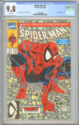 Spider-Man #1 CGC 9.8 White Pages 1990 2120692008 Todd McFarlane
