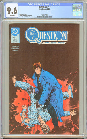 Question #17 CGC 9.6 WHITE PAGES 1988 2120695001 1st Rorschach from Watchmen