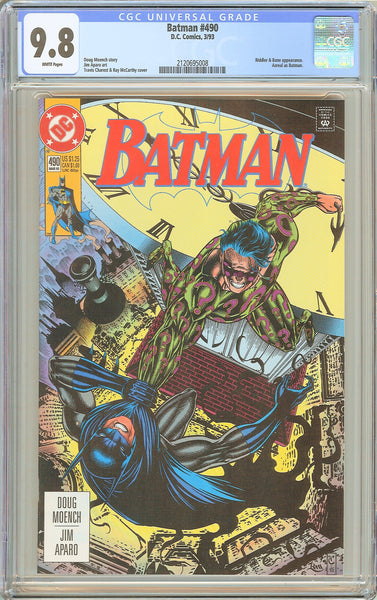 Batman # 490 CGC 9.8 White Pages 1993 2120695008 Who Riddled the Riddler?