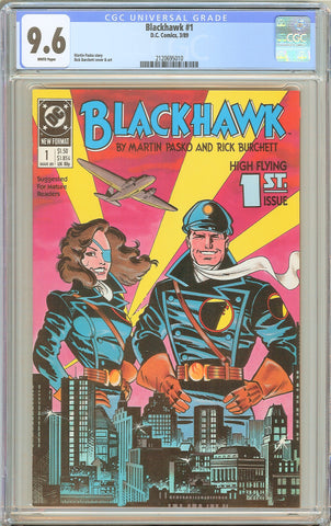 Blackhawk #1 CGC 9.6 White Pages 1989 2120695010  High Flying 1st Issue