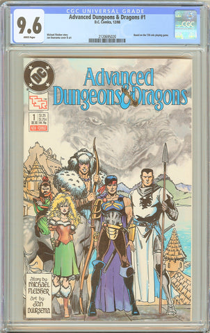 Advanced Dungeons & Dragons #1 CGC 9.6 White Pages DC Comics 1988 2120695020