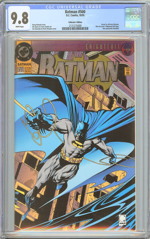 Batman # 500 CGC 9.8 WP 1993 2121275009 Collector's Edition Embossed Foil DieCut
